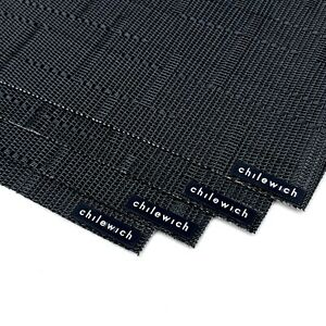 """(4) CHILEWICH Bamboo Placemats JET BLACK 14""""x19"""""""