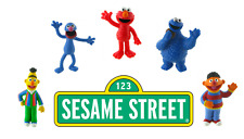 Comansi Official Sesame Street Toy Figure Cake Topper Toppers