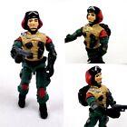 LIFT TICKET v1 1986 PILOT w/ Gun & Backpack Vintage G.I. GI Joe Action Figure