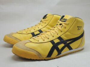 ASICS Onitsuka Tiger MEXICO MID RUNNER Leather Yellow Black 28.5cm US11.5