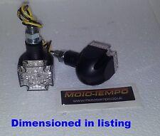 LED Maltese Cross indicators (pair) custom streetfighter winker blinker Black E