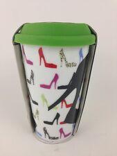 Ciroa Double Walled Porcelain Ceramic Travel Mug SHOES HIGH HEELS Fashion NEW