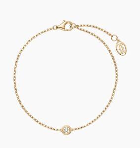 New Authentic Cartier Diamants Legers 18k Yellow Gold Bracelet RRP £1600