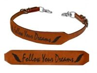 """Showman """"FOLLOW YOUR DREAMS"""" Branded Western Leather Wither Strap NEW HORSE TACK"""