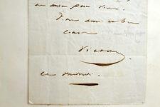 Billet autographe de Victor HUGO Notre-dame de Paris MANUSCRIT Perrotin 1850