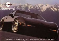 1994 Chevrolet Corvette Owners Manual User Guide Reference Operator Book Fuses