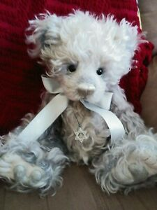 """HTF/Retired Charlie Bears """"Twinkle"""" Isabelle Lee Mohair bear with tags and bag"""
