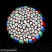 GENUINE Vtg MURANO 🇮🇹 Paperweight MILLEFIORI Italian ArT GLaSs Sommerso LABEL