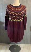 2X Modcloth burgundy red sweater dress