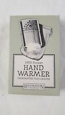 Pocket Hand Warmer Peacock Lighter Restoration Hardware w Instructions Box 1903