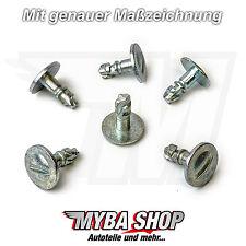 5x protección del motor antiempotramiento Metal Clips AUDI VW PASSAT SKODA