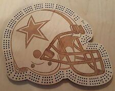 Dallas Cowboys Football Helmet Three Track Cribbage Board