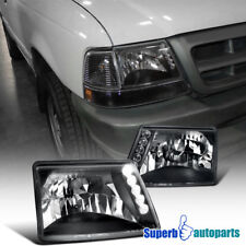 1998-2000 Ford Ranger SMD Led DRL Headlights Head Lamps Black SpecD Tuning