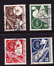 GERMANY/STAMPS: Complete set of 4 used 1953 issues-Scott# 698-701