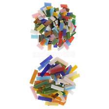 220pcs Assorted Color Size Rectangle Glass Pieces Mosaic Tiles for Art Craft