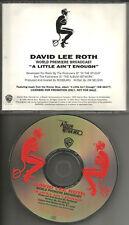 Van Halen DAVID LEE ROTH A Little INTERVIEW & MUSIC 1991 WORLD PREMIERE PROMO CD