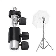 Type D Flash Bracket 360 Swivel Hot Shoe Umbrella Stand Holder Tripod 1/4 3/8
