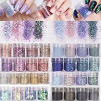 10ML Nail Art Glitter Powder Dust  Nails Sequins Flakes Manicure Decoration