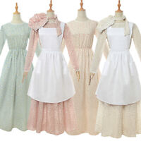 Pioneer Women Costume Floral Prairie Dress Cotton Deluxe Colonial Dress Lot