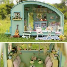 Wooden Doll House Handmade DIY Doll House Miniature Assemble Furniture Kit Toys
