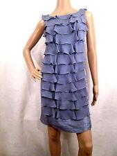 ADRIANNA PAPELL Lavender (Purple) Sleeveless Ruffled Tiered Dress Size 12 PETITE