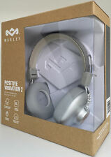 House of Marley Positive Vibration 2 On-Ear Wired Headphones Silver Grey NEW