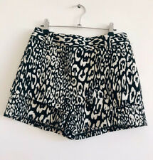 Black And White Leopard Shorts Cue Size 6 jacquard