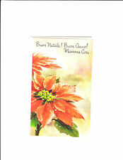 1 card Italian Christmas Greeting Card Mother Mamma natale poinsettia red