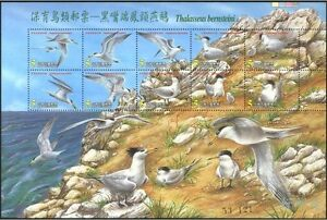 China Taiwan 2002 year Conservation of Bird China Crested Team souvenir sheet