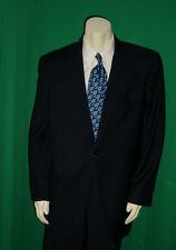 HICKEY FREEMAN BOARDROOM NAVY BLUE SMALL WINDOWPANE PLAID SPORTCOAT 44 LONG