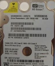 WD800BEVS-22RST0  80gb Sata Laptop Drive