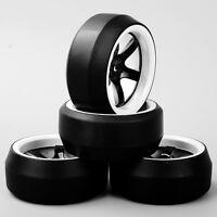 D5NWK 1:10 RC Speed 0 Degree Tyre 5 Spoke Wheel Rim 4PCS For HPI Drift Car