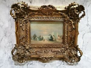 Seaside Painting By W. M Chase Gold Gilt Frame