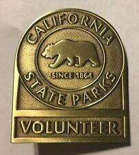 California State Parks -  Volunteer Badge - bronze version
