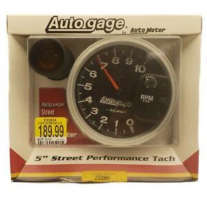 "Auto Meter 233904 Gauge Tachometer 5"" 10,000 RPM Shift Lite Black Auto Gage"