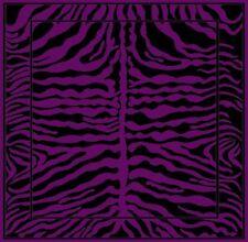 ZEBRA SKIN PATTERN AFRICAN SAFARI 4 X 6 AREA RUG Purple & Black