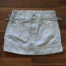 Disney Hannah Montana Girls Skirt Size 12 silver retro costume cosplay shimmer
