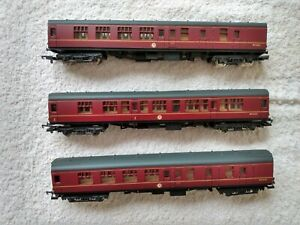 Lima BR Mk1 Maroon Coaches X3 All Boxed OO Gauge