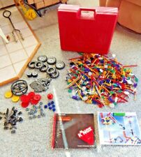K'Nex Extra Large Red Carrying Case,2 Instruction Books, With 1000 knex pieces