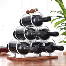 Iron Wine Rack 6 Bottle Shelf Storage Holder Handle Home Shop Decoration  * *