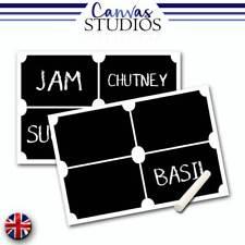 8x Ticket Blackboard Chalkboard Vinyl Craft Label Sticker Jar Decal With Chalk