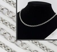 "5.8mm Stainless Steel Silver Mens Womens Belcher Chain 22"" 24"" 30"" 36"" Necklace"