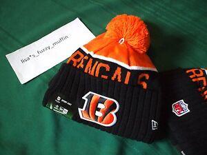 Cincinnati Bengals New Era knit pom hat beanie On Field NWT 100% AUTHENTIC! 2015