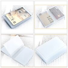 Plastic Wallet Insert Replacement Bifold Name Credit Card Holder 10 page 20 slot