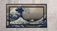 "Japanese Wave Tsunami Kitchen Bar Entry Family Doormat Door Mat 18""x30"" Gift"