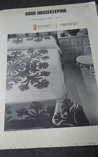 "Vtg rare 1969 Good Housekeeping Hawaiian Quilt pattern 99x99"" UNCUT"