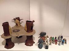 Vintage Star Wars Lot Ewok Village Taun Taun Mini Rigs Figures Kenner
