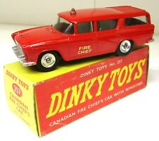 Dinky Toys 257 - Nash Rambler, Canadian Fire Chief - VINTAGE - Boxed. (Li2)