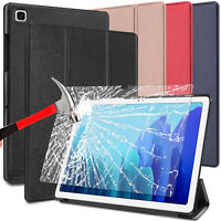 For Samsung Galaxy Tab A7 10.4 2020 Case Leather Stand Cover/Screen Protector 9H