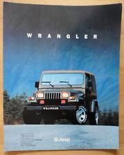 JEEP Wrangler 1995-96 UK MKT OPUSCOLO GRANDE FORMATO DI VENDITA